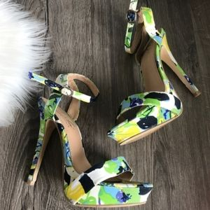 DIBA London Ryder Floral Platform Heel